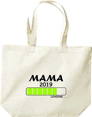 ShirtInStyle grosse Einkaufstasche Loading MAMA 2019 Natur