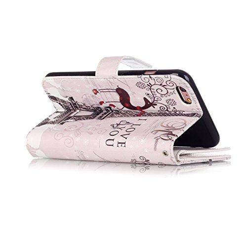 Etui Coque PU Slim Bumper pour Apple iPhone 6 Plus (5,5 pouces) Souple Housse de Protection Flexible Soft Case Cas Couverture Anti Choc Mince Légère Silicone Cover Bouchon -photo Frame Keychain #AS (6 10