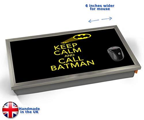 Keep Calm and Call Batman Cushioned Bean Bag Laptop Lap Tray Desk - Built-in EMF Shield (Electro...