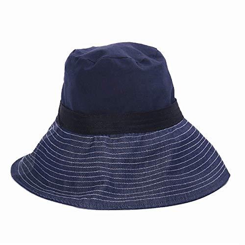 LIXUE Chapeau de Protection Solaire pour Femmes avec Protection UV (Color : Black, Size : M(56-58cm))