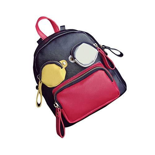 KIKBLW Rucksack Männer und Frauen Business Computer Tasche Lade Reise Schulter Männer Rucksack Schweizer Taschenmesser Rucksack,Red