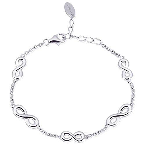Mabina Gioielli Infinity Armband Silber längenverstellbar 533184