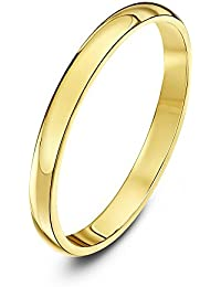 Theia Unisex 14 ct Gold Super Heavy D Shape Polished Wedding Ring