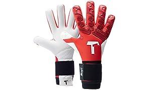 T1TAN Torwarthandschuhe mit Fingerschutz, Fußballhandschuhe Herren & Frauen und 4mm Profi Grip - Diverse Größe und Farben
