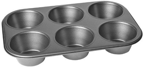 Chloe's Kitchen 201-133 Muffin Pan, Jumbo 6-Cavity, Non-Stick by MDC Housewares 6 Jumbo Muffin Pan