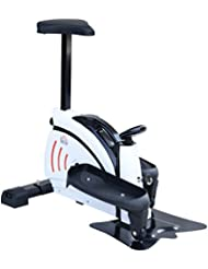 Homcom Vélo elliptique L 74 x l 49 x H 77 cm écran LCD Multifonction Blanc Noir