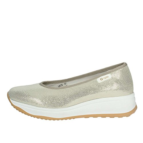 Agile By Rucoline 136 Ballerine Femme Platine 37½