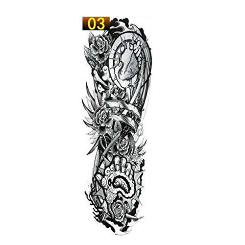 camellia 1PCS Voll Arm Blumen-Tätowierung-Aufkleber wasserdicht temporäre Tätowierung-Hülsen-Männer Frauen-Körper-Wassertransfer Gefälschte Tatoo Sleeve Lack (3)