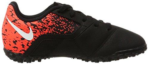 Nike Unisex-Kinder Bombax Tf Fußballschuhe Mehrfarbig (Black/White-Total Crimson)