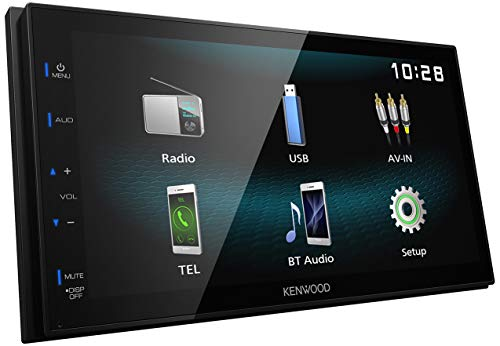 Kenwood DMX120BT Digital Media Receiver mit 17,3 cm Hochglanz-Touchpanel, Bluetooth, Android USB-Mirroring, 4 x 50 Watt