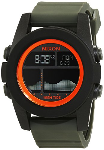 nixon-herren-armbanduhr-unit-tide-black-surplus-orange-digital-quarz-silikon-a2822050-00