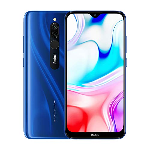 Photo Gallery xiaomi redmi 8 smartphone 4gb ram + 64gb rom, schermo dot drop da 6,22, processore octa-core 439 snapdragon, fotocamera posteriore da 12 mp + 2mp versione globale (blu)