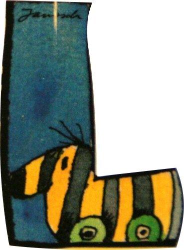 Janosch Holzbuchstabe L farblich sortiert