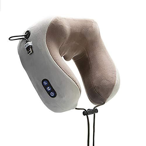 CXYY U Massagekissen Multifunktions wiederaufladbare Nacken Schulter U-Typ elektrische Heizung Vibrationsknetmassage Kissen