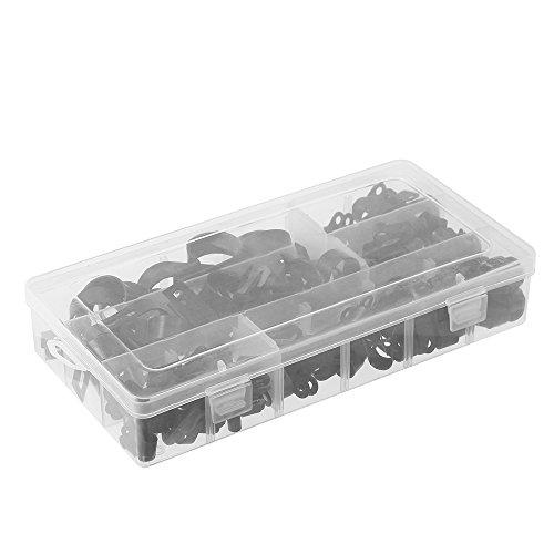 Hylotele 200pcs Nylon Draht Kabelklemme Auto Audio Fastener Kunststoff Draht Clips Schlauchhalterung P Typ Klemmen Kabel Cord Clip Auto Zubehör