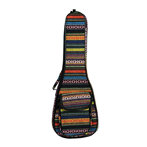 SODIAL 23 Zoll tragbare Baumwolle Nylon gepolsterte Bass Gitarre Gig Tasche Ukulele Gehaeuse Box Gitarre Decker Rucksack mit Doppelgurt