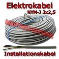 Mantelleitung Grau NYM-J 3x2,5 Installationskabel, Elektrokabel, 25 meter von XBK - Lampenhans.de