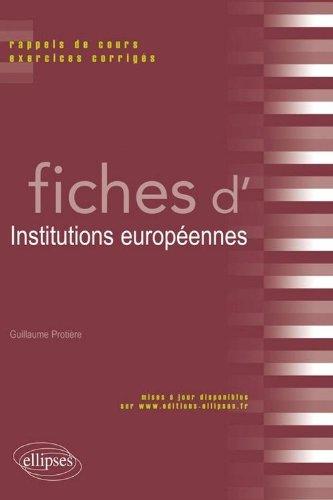 Fiches d'Institutions européennes : Rappels de cours & exercices corrigés
