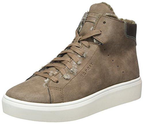 ESPRIT Damen Elda Bootie Hohe Sneaker, Braun (Taupe), 42 EU (Bootie Hohe)