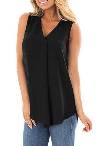 For G and PL Women's Summer V-Neck Sleeveless Vest Tops