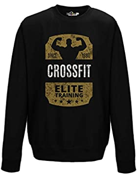 Felpa Girocollo Uomo Crossfit 1980 Elite Training Palestra Sport 2