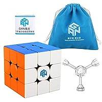 Coogam GAN 356R Speed Cube Gans 356 R 3x3 Stickerless Gan356 R 3x3x3 Speedcube GES V3 System with Extra Blue Pouch