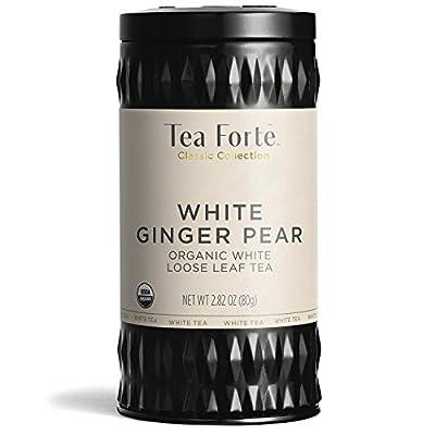 Tea Forté WHITE GINGER PEAR, Thé Blanc Bio Gourmet - Boite Alu réutilisable - 80g