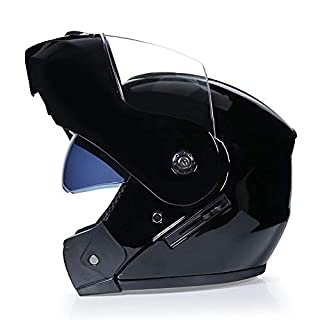 DanNN Motorrad Full Face ECE Helm-YEMA YM-829 Racing Motorcycle Helmet mit Sun Visor Three Colour,Black,S