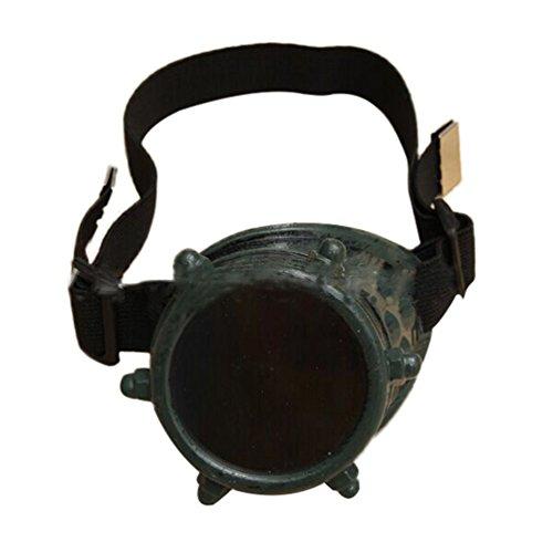 Byqny Novelties Sonnenbrille Schutzbrille Jahrgang Steampunk Monokel Brille Victorian Gotik Cosplay...