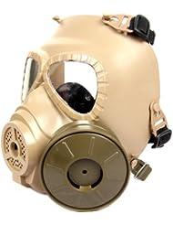 FreshGadgetz Set de 1 Máscara beige para la protección total del rostro frente a Pistolas BB Airsoft Paintaball