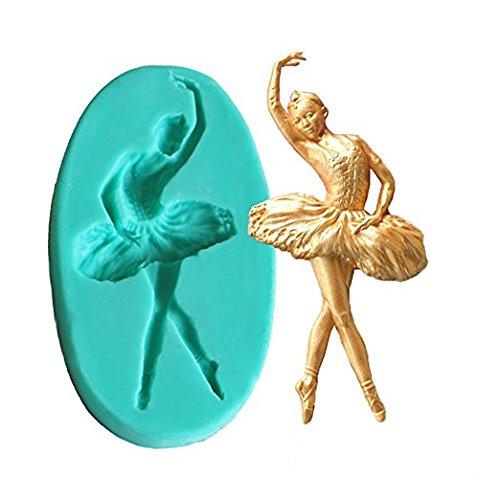 Ballerinas Schokolade (qilene Ballett Mädchen Backen Kuchen Form Fondant Schokolade Cookie Seife Form)