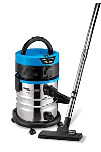 AquaVac EXCELL 24 S SYNCHRO Drum vacuum cleaner 24L 1000W Black,Blue,Stainless steel - Vacuums (1000 W, Drum vacuum, 24 L, Black, Blue, Stainless steel, Dry&wet, Professional)