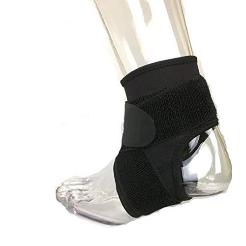 Vige Sport Wrap Fuß Drop Orthesen Korrektur Knöchelbandage Plantarfasziitis unterstützen und stabilisieren verletzte oder schwache Knöchel bei Aktivitäten - Schwarz XL -