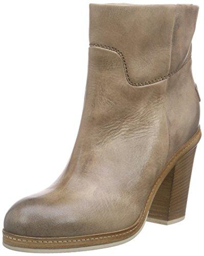 Shabbies Amsterdamnew 11cm booty stitchwelt sole Pedula - Stivaletti a gamba corta senza chiusura, imbottitura leggera Donna , Grigio (Grau (Ash)), 42