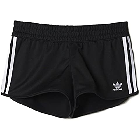 Adidas 3Stripes Shorts Pantaloncini Donna, Nero, 42
