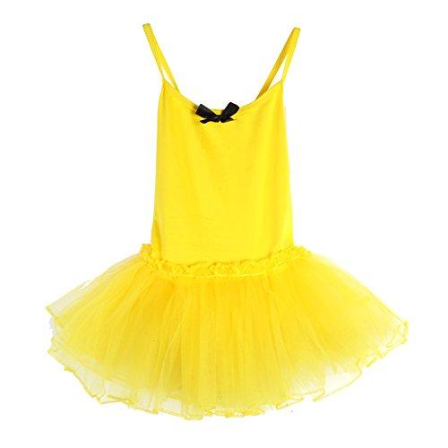 Brightup Mädchen Kind Ballett Tanz Kleid Trikotanzug Ballettröckchen (Kostüme Ballsaal Tanz Für Kinder)