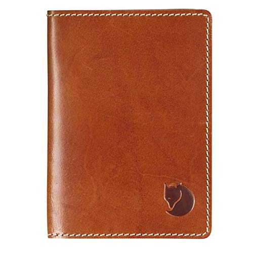 FJÄLLRÄVEN Leather Passport Cover Ausweis-etui, Cognac, 15 cm - Cognac-reise-brieftaschen
