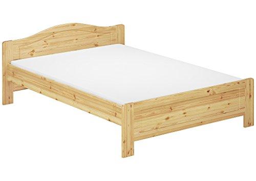 Erst-Holz® Doppelbett Kiefer Natur Ehebett 140x200 Futonbett Massivholzbett Rollrost Matratze 60.37-14 M