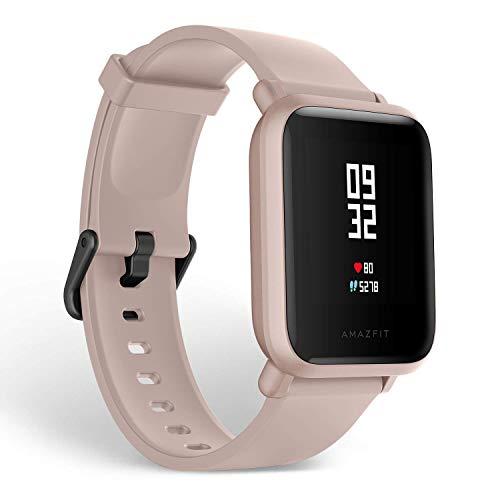 Xiaomi Amazfit Bip Lite SmartWatch Monitor de Actividad Fitness Resistente al Agua 30 Metros Pulsómetro Modos Deportivos (Versión Internacional - 45 días de Batería) Rosa (Reacondicionado)
