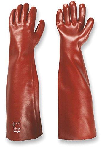 PVC-Handschuhe MEMPHIS 60 cm rot Gr. (Lang Handschuhe)