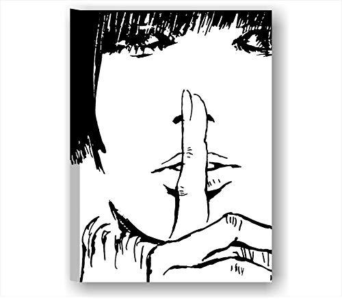Valentina 6 - Quadro Moderno 50x70 cm Tela Stampa Quadri Moderni Valentina rosselli Disegno Bianco e Nero Rosso Film Fumetto Cartone crepax Manga Arredamento casa Salotto Canvas Camera Letto