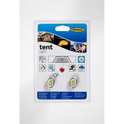 2 LED Batterie Zelt Beleuchtung von Ring (Einheitsgröße) (Transparent )