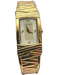 Quartz analogique 18 KT or féminin de Fontenay plaqué montre Bracelet carré