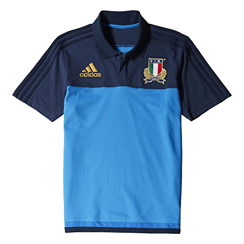 adidas Herren Poloshirt Italien Polo, Blau/Dunkelblau, S