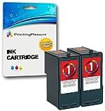 Printing Pleasure 2 Compatibles Lexmark No. 1 Cartouches d'encre pour X2300 X2310 X2315 X2320 X2330 X2340 X2350 X2390 X2450 X2470 X2480 X3450 X3470 X3480 Z730 Z735 - Couleur, Grande Capacité