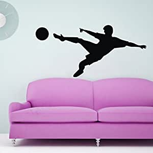 117 * 56 centimetri Nero Football Player murali Stickers Sports Wall Sticker sfera sport e hobby bambino wallpaper Art Home decorazione della stanza sticker da muro Adesivi Decorativi