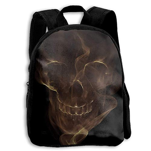 ADGBag Smoke Skull of Ocean Pirate Children's Backpack Kids School Bag with Adjustable Shoulders Ergonomic Back Pad Perfect for School Security Sporting Events Kinderrucksack Rucksack (Pokemon Rucksack Auf Rädern)
