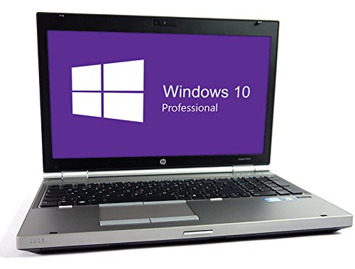HP Elitebook 8570p Notebook | 15.6 Zoll Display | Intel Core i7-3520M @ 2,9 GHz | 8GB DDR3 RAM | 250GB SSD | DVD-Brenner | Windows 10 Pro vorinstalliert (Zertifiziert und Generalüberholt)