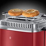 Russell Hobbs 21680-56 Toaster Retro Ribbon Red, Retro Countdown-Anzeige, Schnell-Toast-Technologie, 1300 Watt, rot - 6
