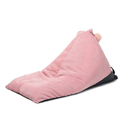 TFT Bolsas de Frijoles para niños Sofá Perezoso, Dormitorio Sala de Estar Ventana de Bahía Desmontable, EPP Silla Individual (Color : Pink)